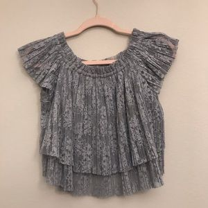 Zara off the shoulder lace top size M